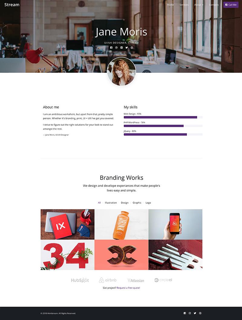 Stream - Bootstrap 4 UI Kit